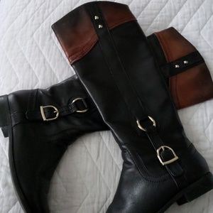 Two toned boots